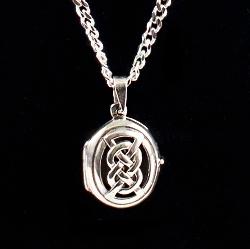 Celtic locket memorial pendant