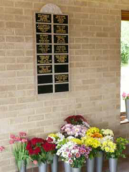 Granite wall plaque memorial