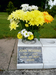 Memorial vase and tablet