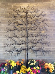 Decoartive tree of remembrance at Reading Borough Council cemetery