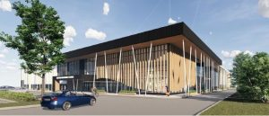 Rivermead approach - digital drawing of proposed improvements to leisure facilities