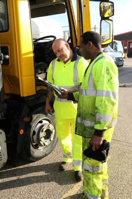 Reading Borough Council Commercial Services team members