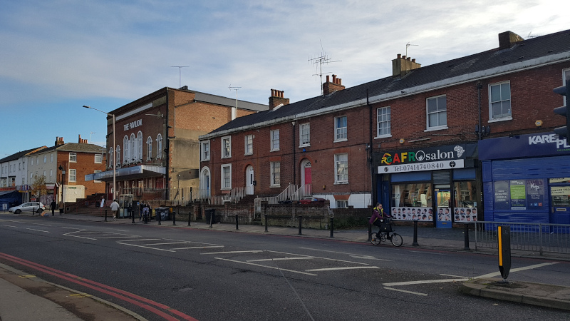 Street view of Oxford Road shops
