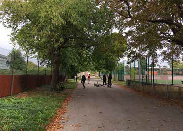 Palmer Park Historic entrance gates at Wokingham Road