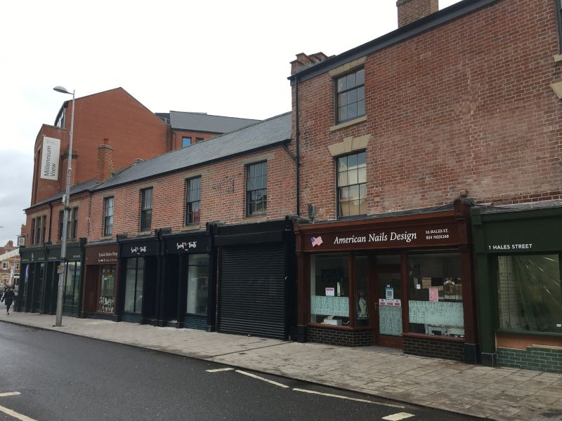 Coventry HSHAZ regeneration work to shop fronts - after
