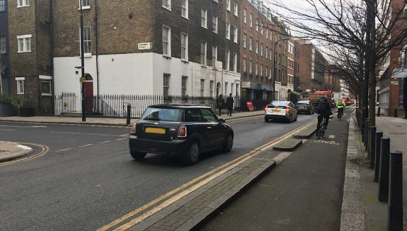 Segregated cycle lane