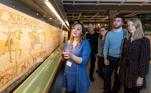 RBC Staff member at Reading Museum leading a guided tour