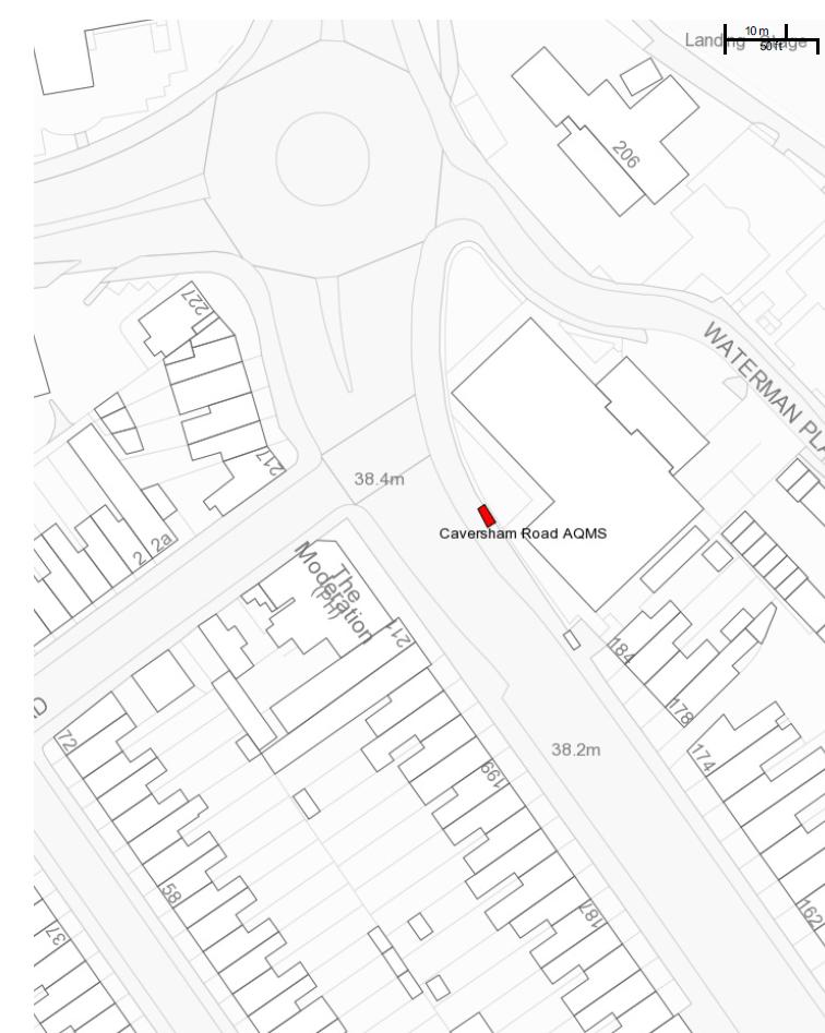 Figure D.3 Map of Caversham Road AQMS