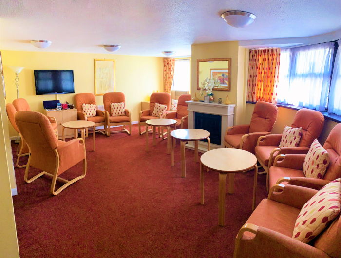 Bristow Court sheltered housing communal living space