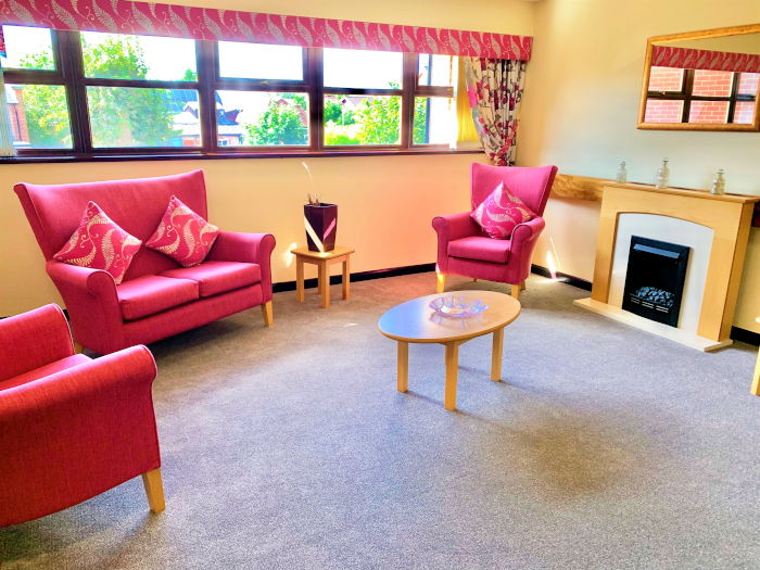 Living space at Bristow Court sheltered housing