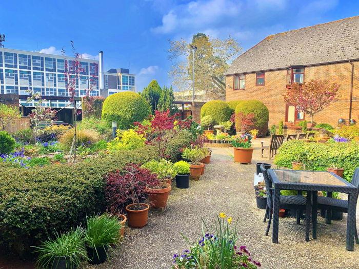 Christchurch Court sheltered housing - gardens