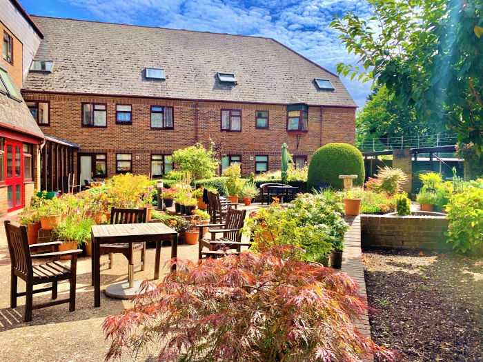 Christchurch Court sheltered housing - outdoor seating