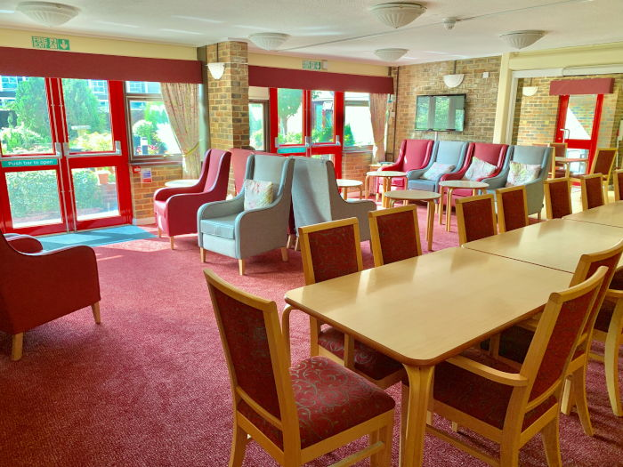 Christchurch Court sheltered housing - dining area