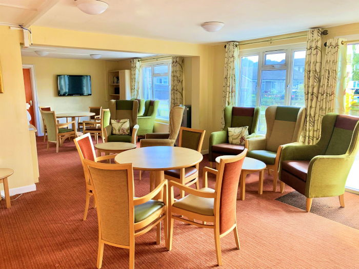 Durham Close sheltered housing dining area