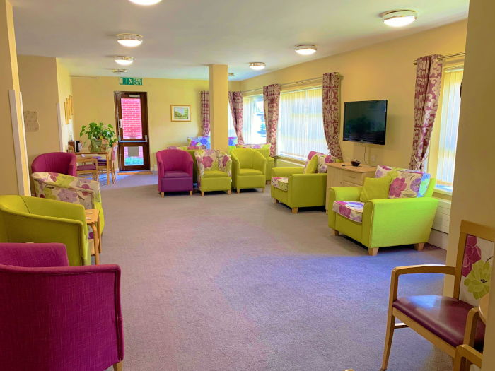 Trinity Place sheltered housing communal area