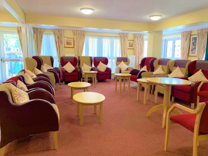 Communal area in Tyrell Court sheltered housing