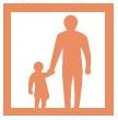 icon of adult and child holding hands